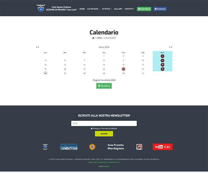 Calendario Per Sito Web.Sito Web E Gestione Eventi Per C A I Pesaro